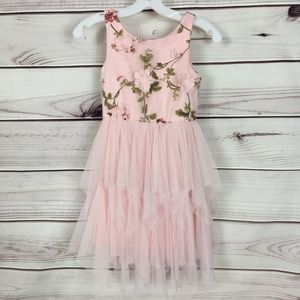 Zunie Floral Tulle Dress